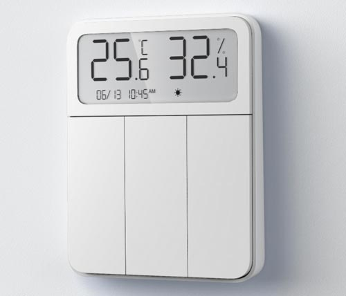 Xiaomi Mi Temperature and Humidity Sensor display with Switch